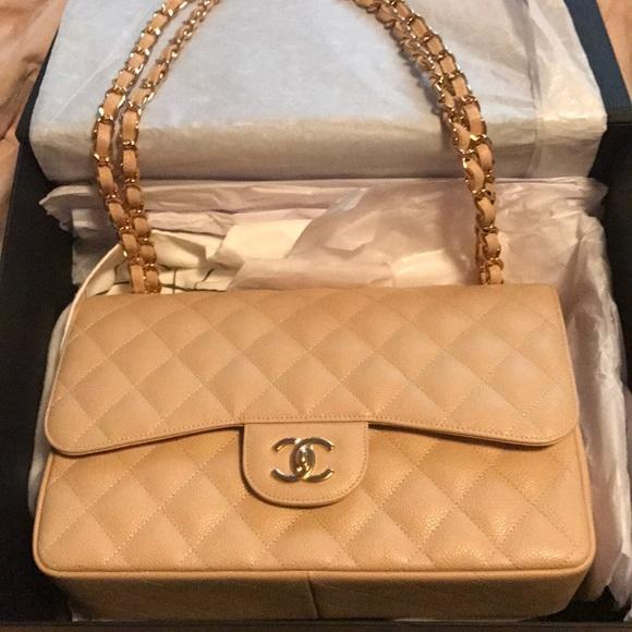 369c183565b3 CHANEL Bags | Beige Caviar Gold Hardware Handbag | Poshmark